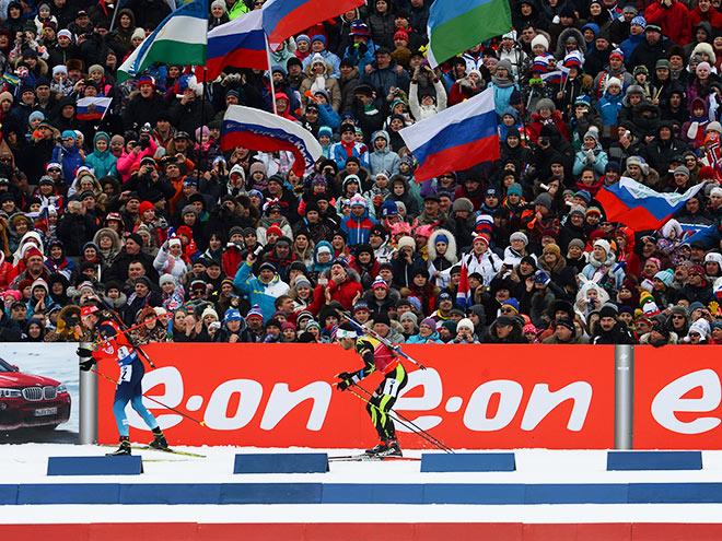 Все международные соревнования по биатлону в России