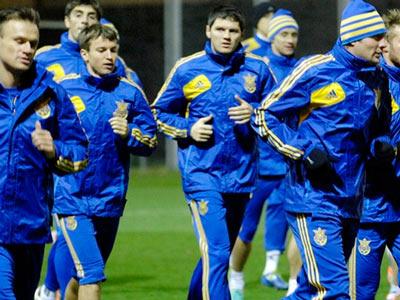Сборная Украины готовится к матчу с болгарами