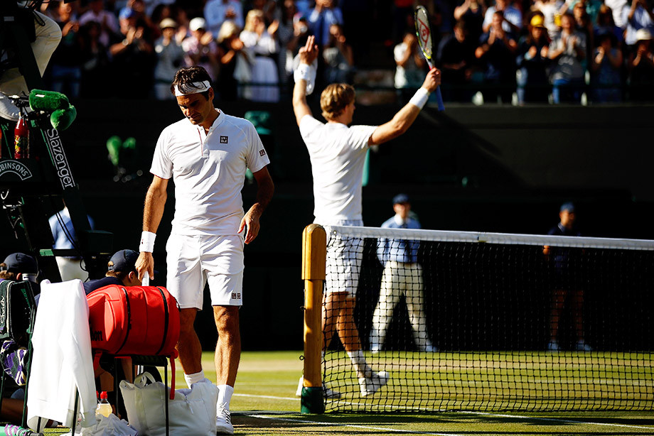 Не железный Роджер. Федерер проиграл Андерсону с матчбола, ведя 2:0 по сетам