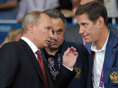 Лондон-2012. Владимир Путин и Александр Жуков