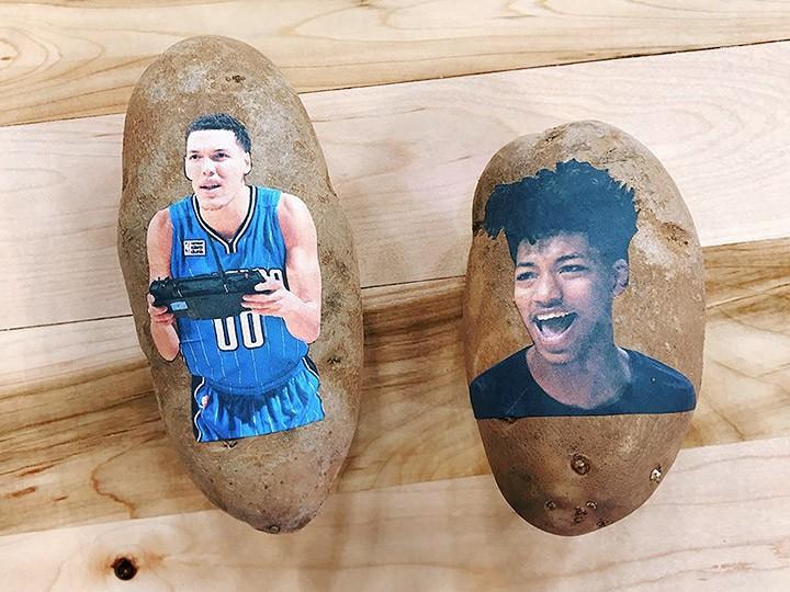 150 игроков НБА получили картофелины с принтами и сообщениями
