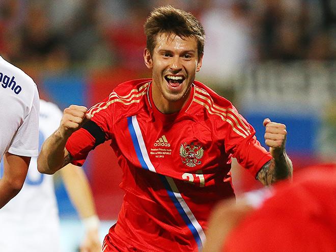 Фёдор Смолов в составе сборной России