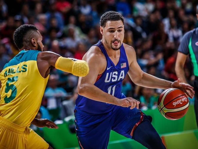 Сборная США победила Австралию в матче баскетбольного турнира Олимпиады