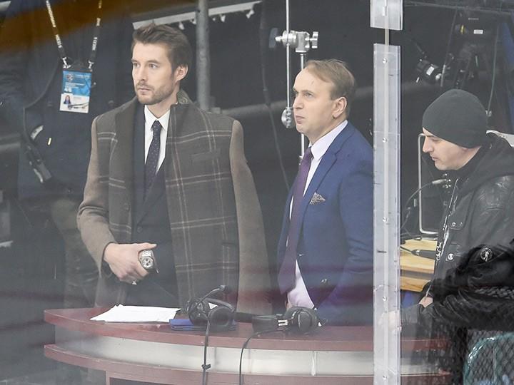 Сын – за отца. Сергей Гимаев-младший в роли эксперта на матче КХЛ