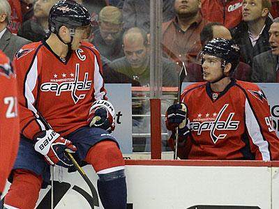 Первый матч Евгения Кузнецова в НХЛ