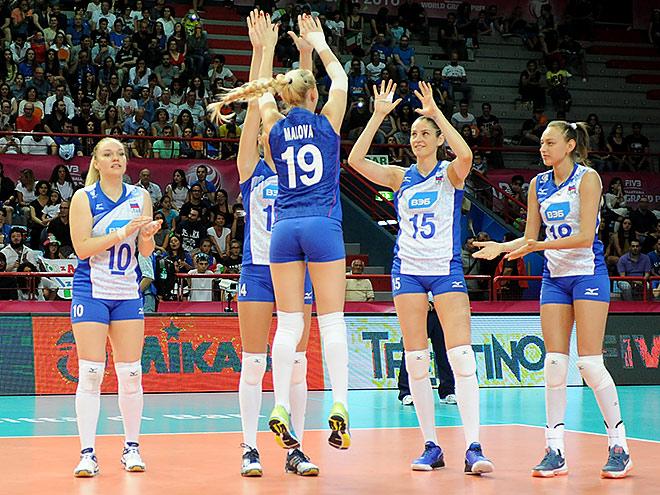 Россиянки в пяти партиях одолели сборную Италии