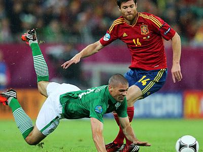 Давид Сильва стал героем матча Испания - Ирландия
