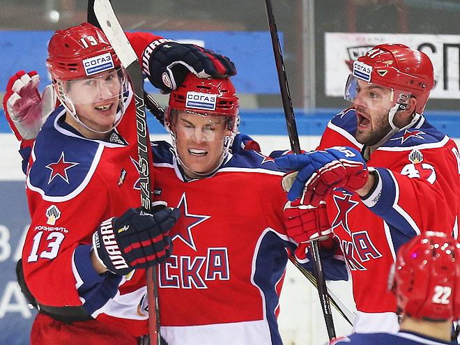 Плей-офф КХЛ. ЦСКА – «Слован» — 2:0