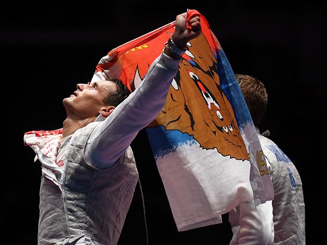 Сборная рапиристов в финале Олимпиады
