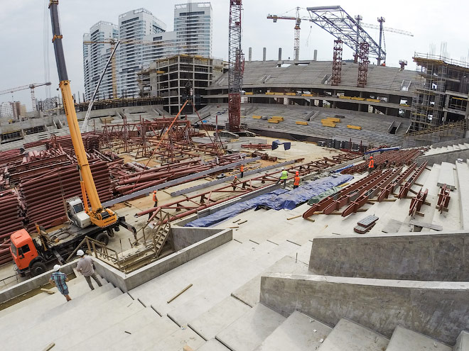 Строящийся стадион ЦСКА