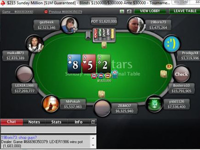 Sunday Million. 28th of August