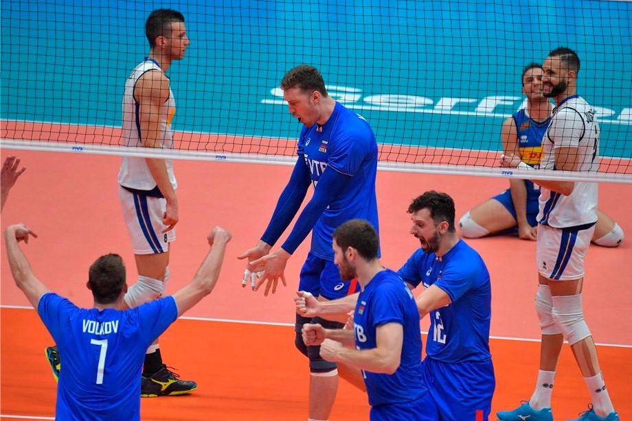 Волейбол. Россия — Италия — 3:2