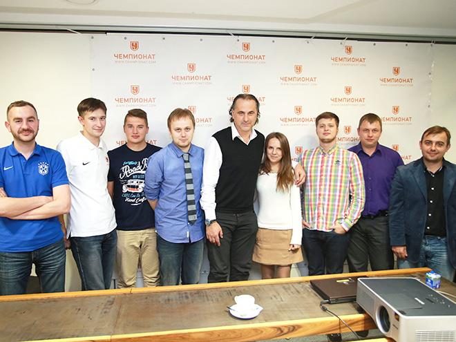 Миодраг Божович и журналисты «Чемпионата»