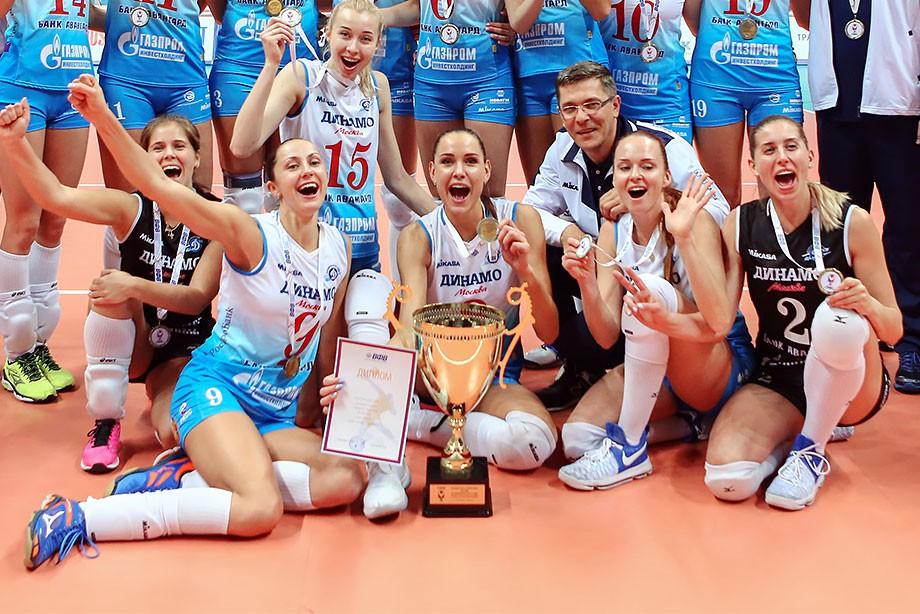 Волейболистки московского «Динамо» выиграли Суперкубок РФ