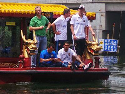 Футболисты ЦСКА в Китае