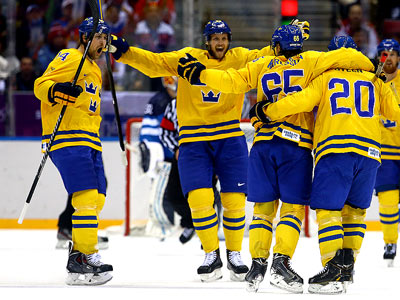 Сочи-2014. Хоккей. 1/2. Швеция - Финляндия - 2:1