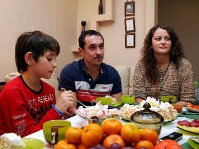 Вадим Рифель и его семья