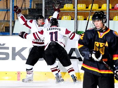 В напряжённейшем матче юниоры Латвии обыграли сборную Германии