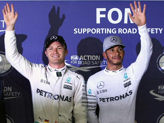 Росберг на поуле Гран-при Сингапура Формулы-1