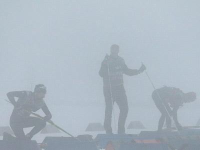 Биатлонная гонка была отменена из-за тумана