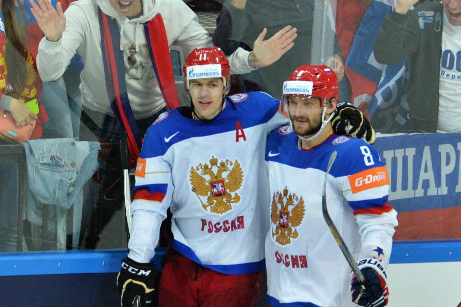 Евгений Малкин и Александр Овечкин сборная России