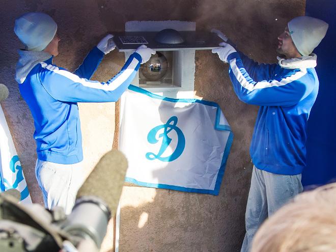 В стену стадиона «Динамо» заложили капсулу