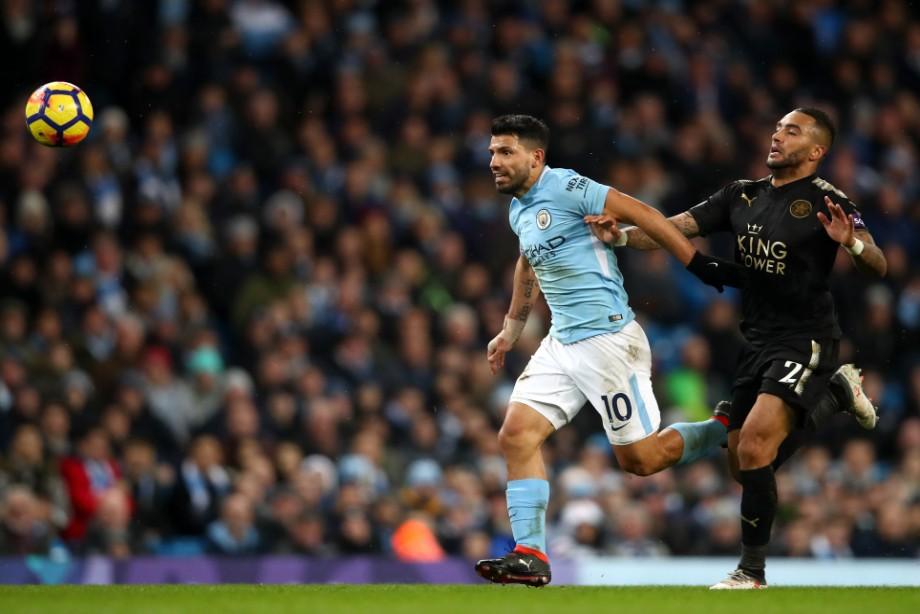 Покер Агуэро помог «Манчестер Сити» разгромить «Лестер»