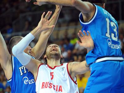 Евробаскет. Россия — Италия — 69:76