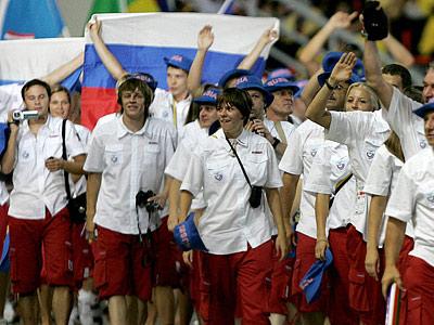 Россия на открытии Универсиады-2007