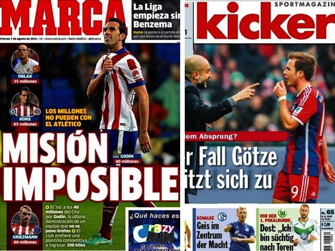 «Атлетико», новички «МЮ» и Гётце – в обзоре прессы