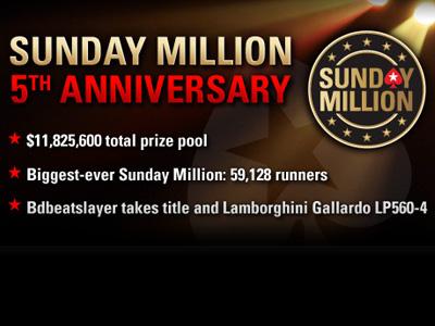Sunday Million. Юбилейный выпуск