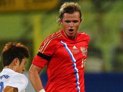 Дмитрий Тарасов в матче против Кореи
