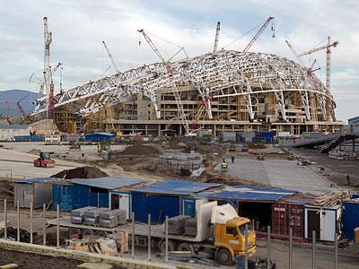 Строительство стадиона Фишт