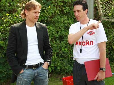 Валерий Карпин и Унаи Эмери