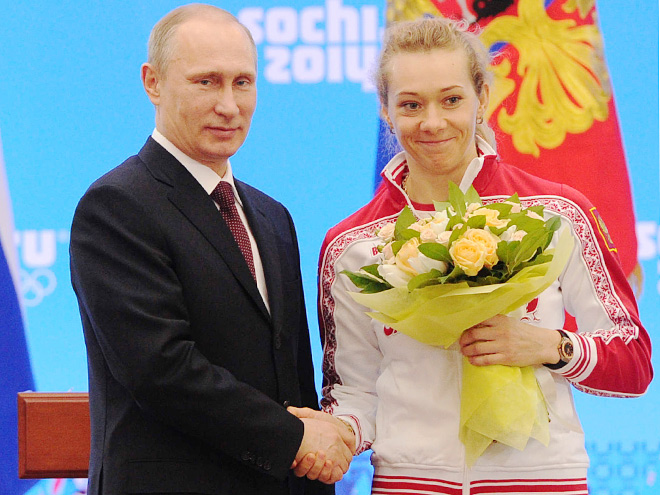 Владимир Путин и Ольга Зайцева