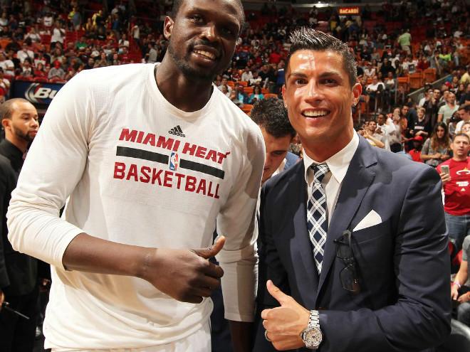 Криштиану Роналду побывал на матче «Майами» – «Детройт»