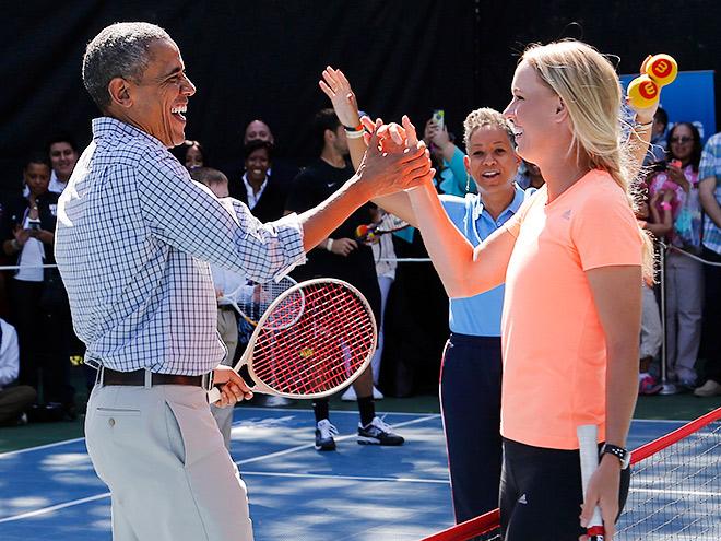Звёздные дуэты на теннисном корте