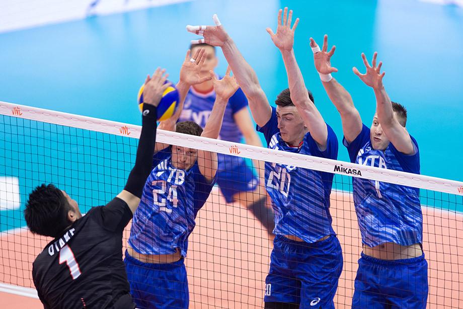 Россия победила Японию со счётом 3:1 в Лиге наций — 2019, обзор матча
