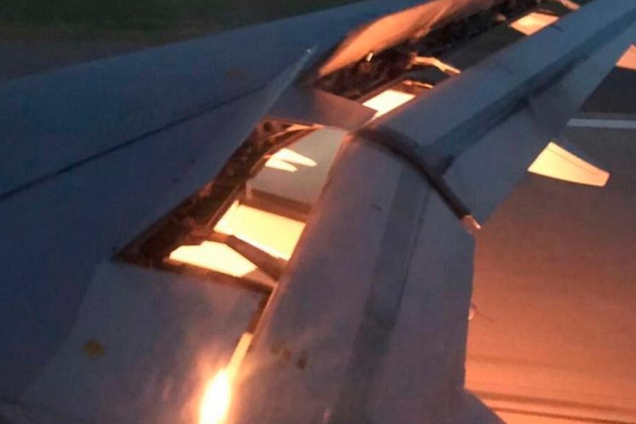 Пламя под крылом перед посадкой— Самолет Саудовской Аравии