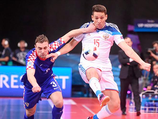 Чемпионат Европы по мини-футболу. Россия сыграла вничью с Хорватией – 2:2