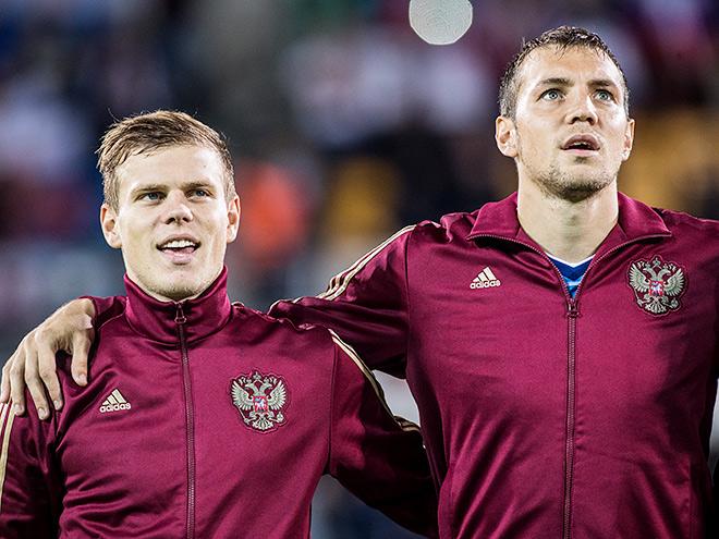 Александр Кокорин и Артём Дзюба