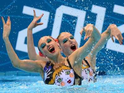 Лондон-2012. Синхронное плавание. Ищенко и Ромашина