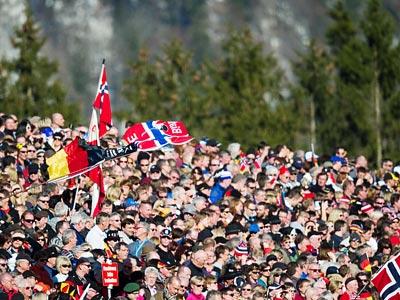 Фотомгновения завершившегося биатлонного чемпионата мира в Рупольдинге