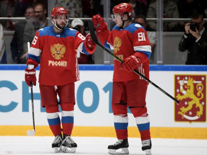 Россия – Чехия – 4:3