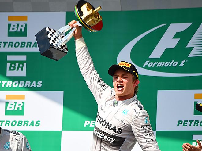 Нико Росберг выиграл Гран-при Бразилии Формулы-1