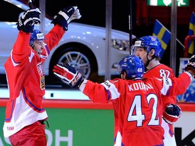 Швеция выбыла в четвертьфинале, уступив Чехии