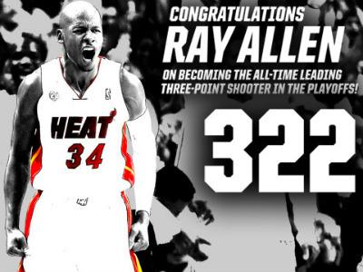 Рэй Аллен забил 322 трёхочковых в плей-офф НБА