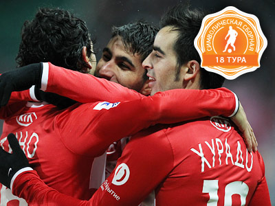 Хурадо, Коста и Майкон  – в сборной 18-го тура