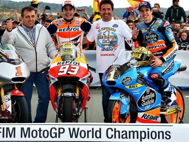 Марк и Алекс Маркесы – чемпионы MotoGP-2014