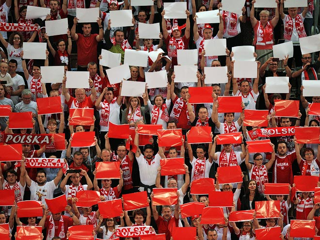 Болельщики сборной Польши по волейболу
